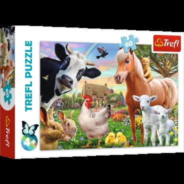 PUZZLE WESOŁA FARMA 60 ELEMENTÓW TREFL
