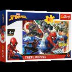 PUZZLE WALECZNY SPIDER-MAN 60 ELEMENTÓW TREFL MARVEL