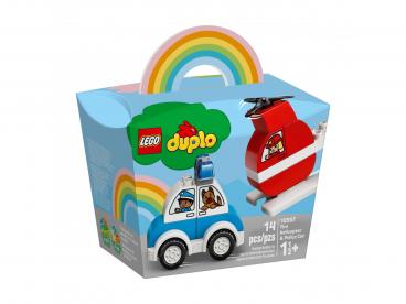 HELIKOPTER STRAŻACKI I RADIOWÓZ LEGO DUPLO 10957
