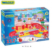 KID CARS 3D- STRAŻ POZARNA 3,1M WADER 53310