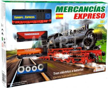 KOLEJKA ELEKTRYCZNA HISZPAŃSKIEJ FIRMY PEQUETREN MERCANCIAS EXPRESO 100