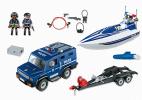 POJAZD TERENOWY POLICJI Z MOTORÓWKĄ PLAYMOBIL 5187