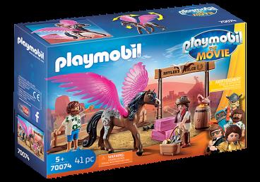 PLAYMOBIL THE MOVIE MARLA, DEL I SKRZYDLATY KOŃ PLAYMOBIL 70074
